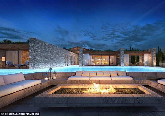The average price of a new home at the Costa Navarino development in Greece is £5million