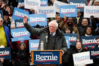 美参议员桑德斯举行首场总统竞选集会