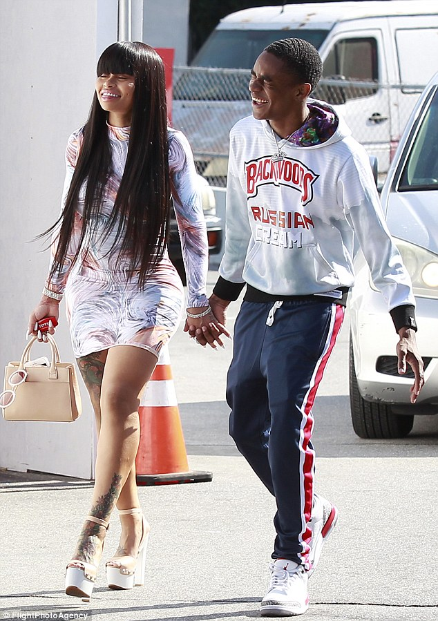 Back on! Blac Chyna, 30, confirmed she was back dating aspiring teen rapper YBN Almighty Jay, 18, on Tuesday during a romantic date night in Los Angeles