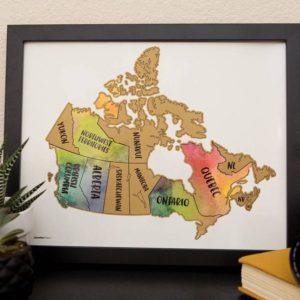 Canada Watercolor Scratch Map @seattlestravels