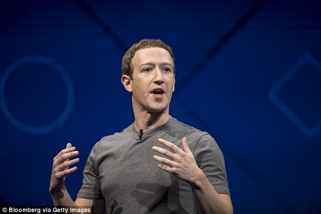 Facebook CEO Mark Zuckerberg (pictured) is expected to testify on Capitol Hill in the coming weeks after US legislative officials repeatedly called for him to do so