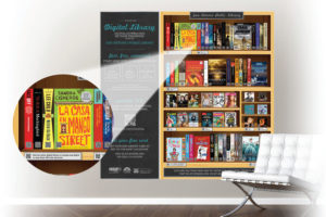 SAPL's digital wallpaper brings the library's collection into thecommunity.