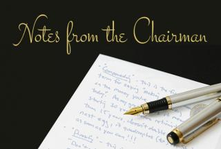 image of notes from the Chairman