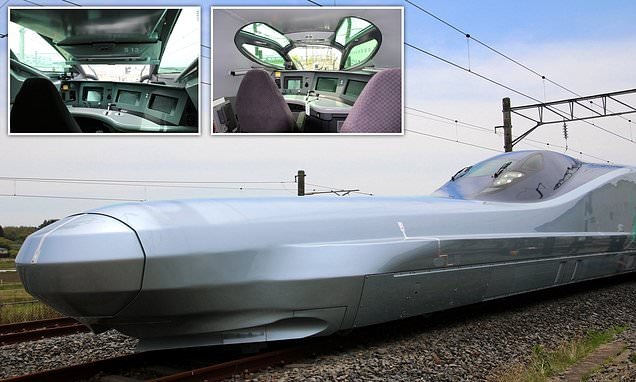 World's fastest bullet train with a 72ft nose is unveiled in Japan