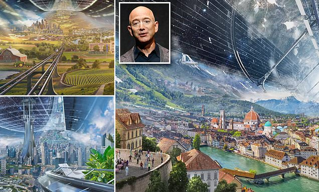Jeff Bezos' futuristic vision of self-sustaining habitat that could house a TRILLION