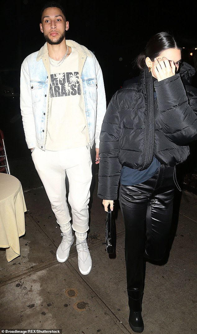 Low-key romance: The Vogue coverstar'souting comes after she lifted the lid on her budding romance with NBA star Ben Simmons, revealing she wants to get engaged (pictured in February)