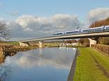 Passengers could receive their Amazon deliveries on HS2 trains, a manufacturer has claimed (HS2/PA)