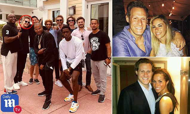 Meghan Markle's ex-husband Trevor Engelson is toasted by friends at his Miami bachelor