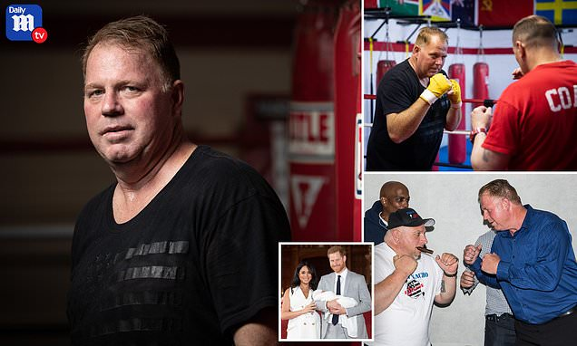 Thomas Markle Jr prepares to step into the ring for celebrity boxing match