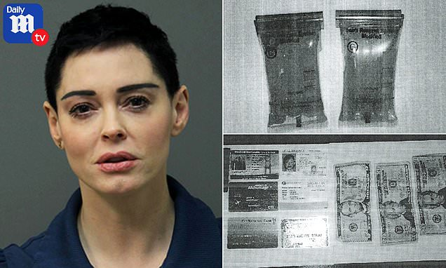 Court photos show 'bags of cocaine' found in Rose McGowan's wallet