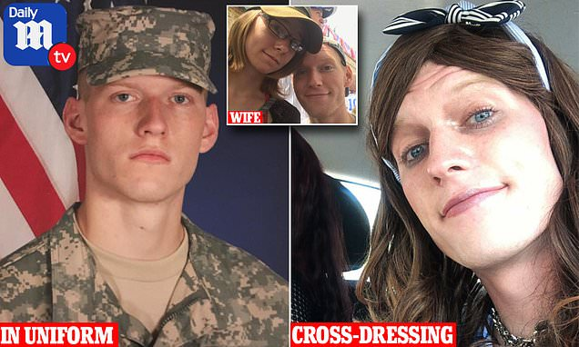 US soldier 'strangled wife to death over his cross-dressing secret'