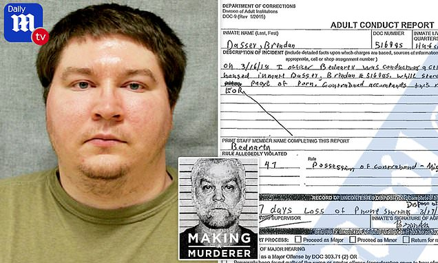 'Making a Murderer' Brendan Dassey busted for porn in prison cell