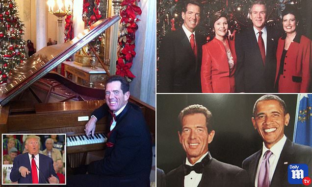 Pianist David Osborne who has played for presidents at Christmas has been shunned by Trump