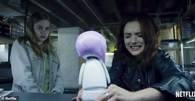 All too much:While the doll continues to tell all the girls, 'believe in yourself,' things appear to reach boiling point for Ashley, progressing to her robot to short circuit. 'Get this cable out of my ass! Holy sh*t, pull it out!' yells the doll. 'God, that's a relief,' adds the robot Ashley after Rachel disconnects her, seemingly providing her with her own mind back
