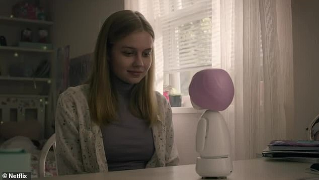 New best friend:Purchasing the doll, Rachel is mesmerized and in love, with her new robotic friend promising: 'I'll be here for you'