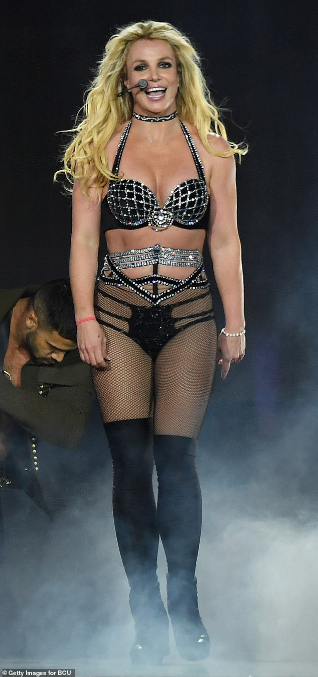 Taking time: It's been four months since Spears canceled her second Las Vegas residency to 'put my full focus and energy on my family' after dad Jamie 'almost died' in November