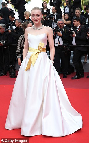 Stunning: Dakota Fanning, 25, opted for all-out glamour at the red carpet