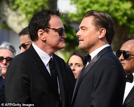 Chatting: Leonardo and Quentin also appeared to be deep in conversation as they chatted on the red carpet