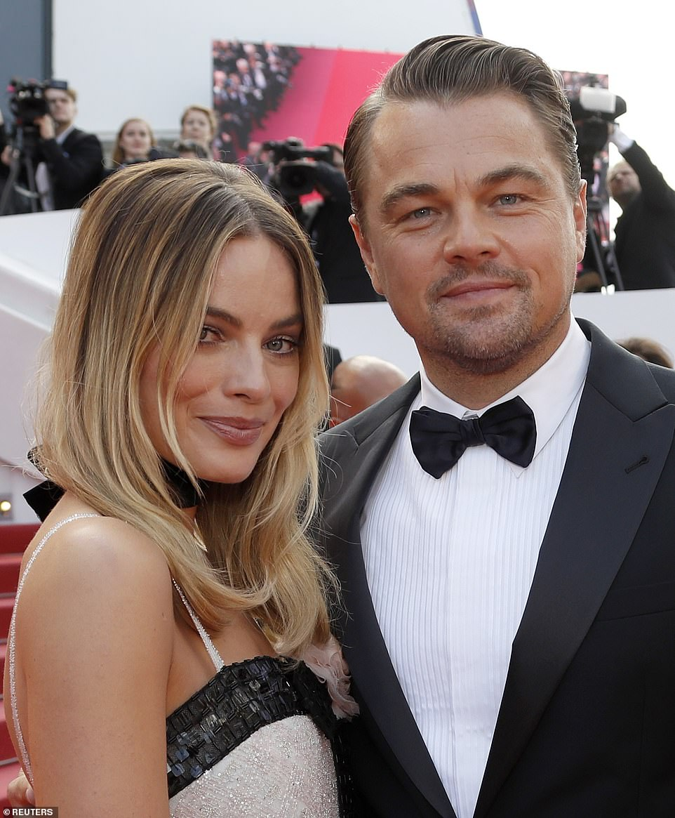 Back together: Margot was also reunited with Leonardo at the film event, after they first appeared in her breakout film The Wold Of Wall Street in 2013
