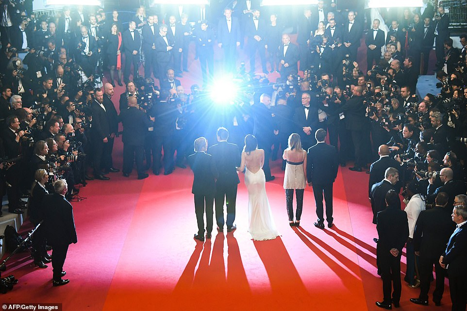 Wow: The world's media had turned out to watch the stars take to the red carpet