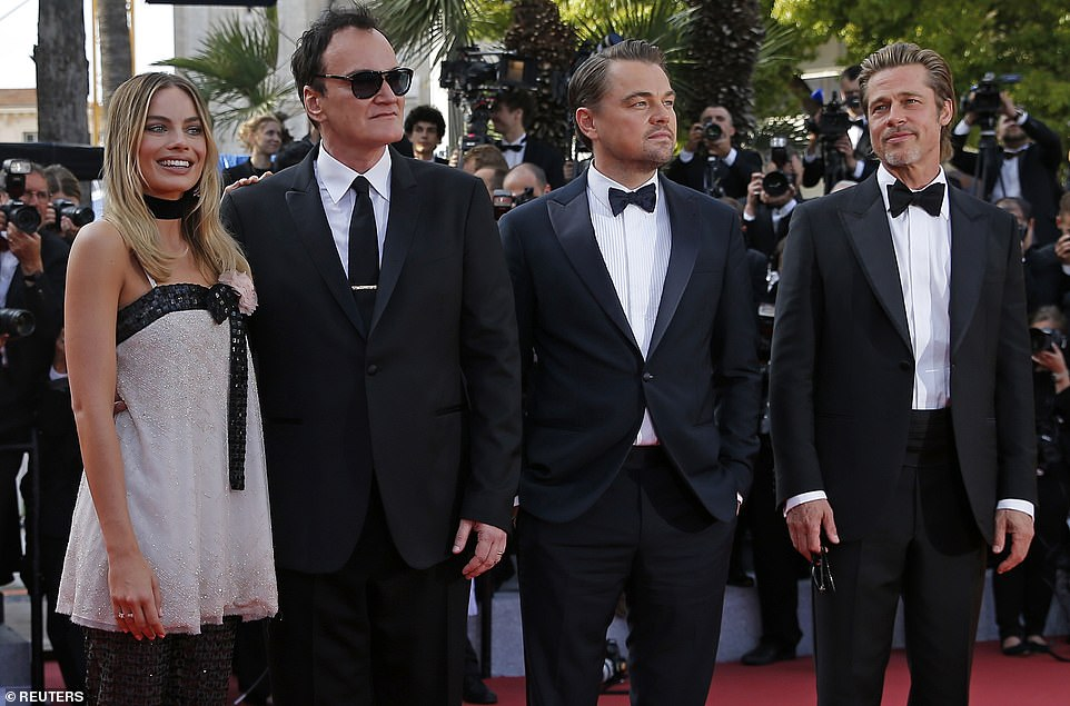 Well-dressed: Once Upon A Time In Hollywood also stars a slew of other big names including Damian Lewis, Bruce Dern and Lena Dunham
