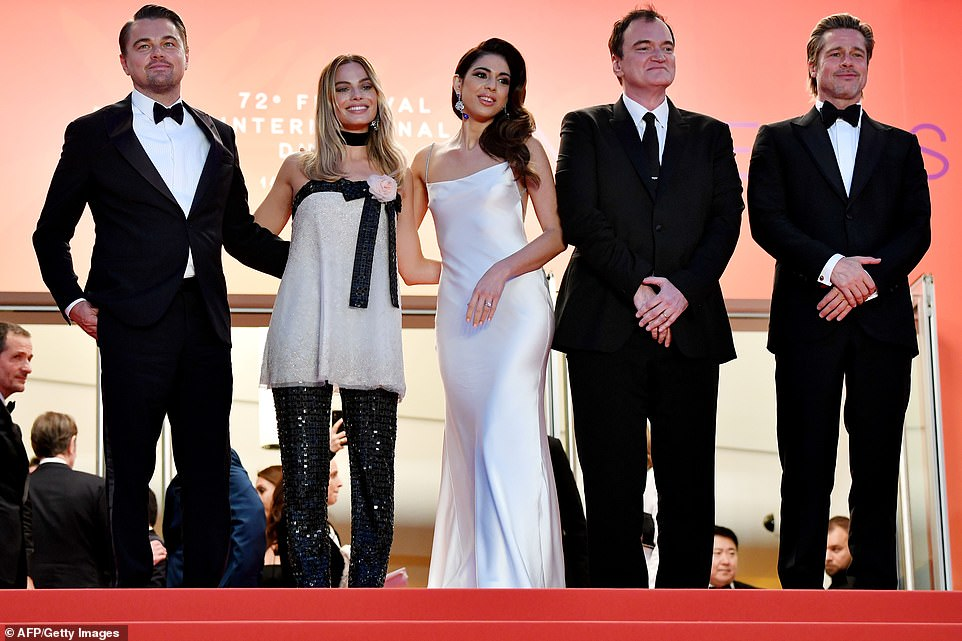 Star-studded: Margot, Leo and Brad made up the star-studded cast of Once Upon A Time In Hollywood