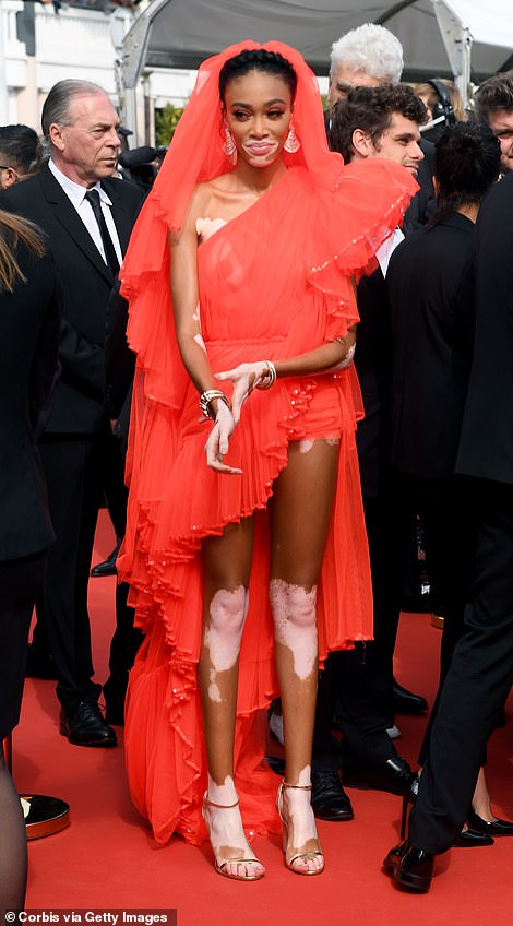 Bold: She's no stranger to turning heads in bold ensembles on-camera and at high-profile events