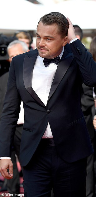Cool: The Revenant star looked far younger than his years as he arrived on the red carpet