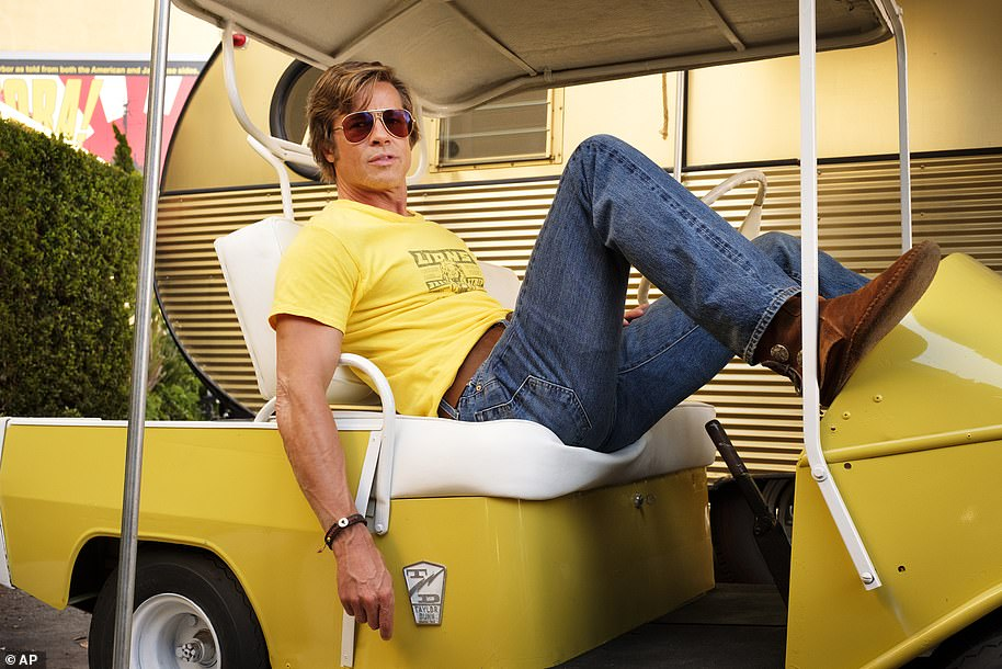 Brad Pitt plays a stunt double in Quentin Tarantino's new movie and is on thumpingly fine form
