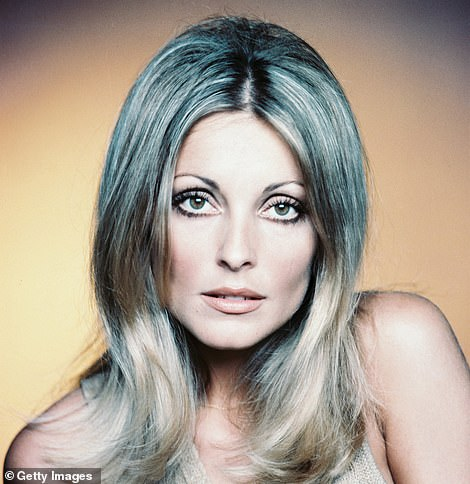 Twins: The look perfectly mimicked that of her character Sharon Tate (above)