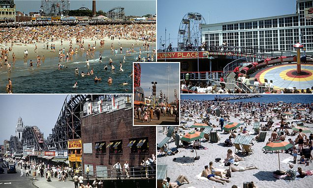 Fascinating colour pictures of Coney Island in 1948