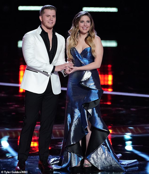 Top two: Gyth Rigdon finished in second place during the live finale results show