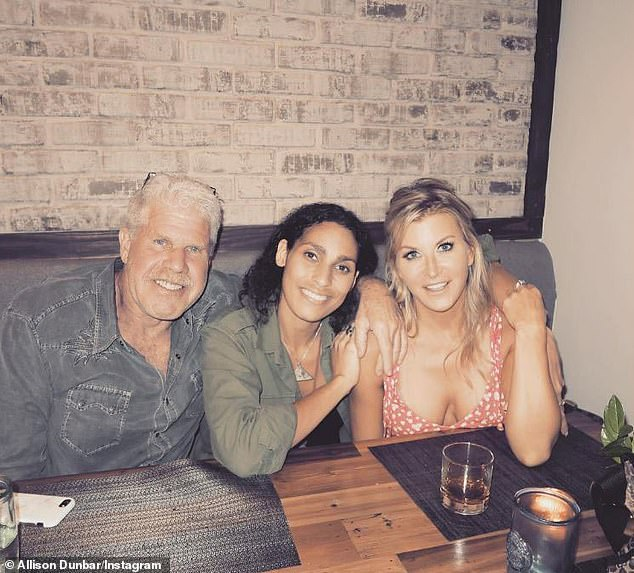 Close: In February 2018 Allison shared this photo showing her on friendly terms with Ron's daughter Blake, 35