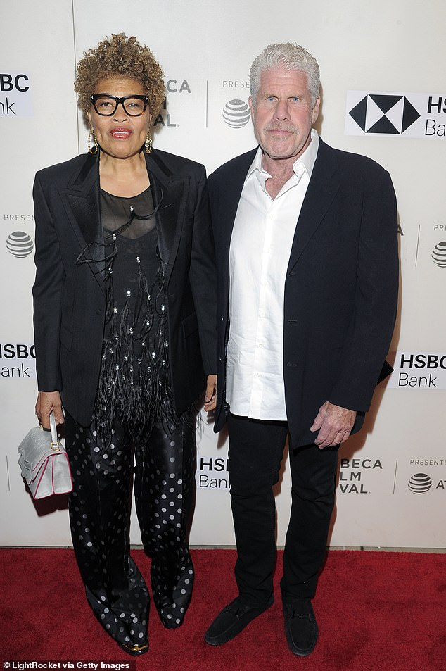 Long-lasting: Ron and wife of 38 years, Opal, are pictured on April 24 2018