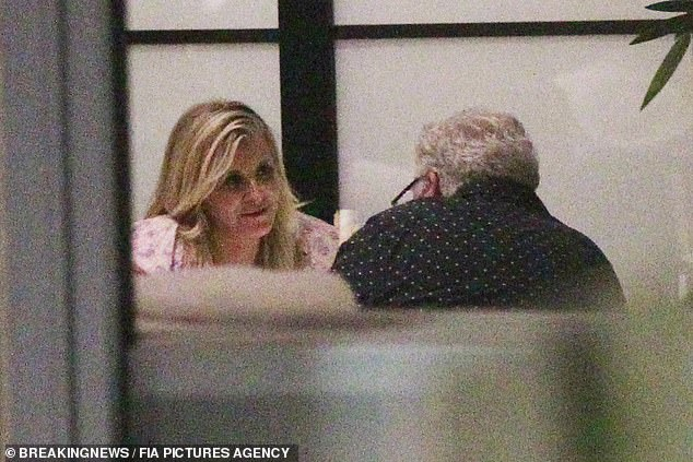 Intimate: Ron and Allison spent a couple of hours having dinner and didn't seem to mind who saw them