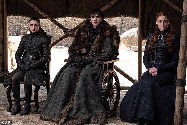 No one knew: The actor, 20, revealed all of the cast were handed a script where their own character got their hands on the Iron Throne