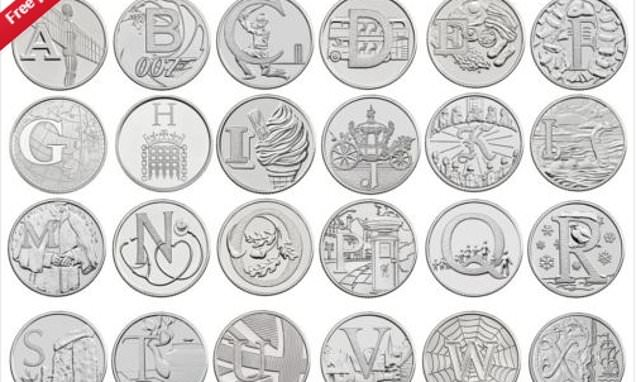 What are the 26 Great British A-Z 10p coins worth?