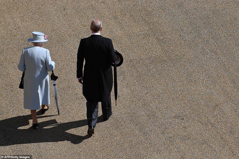The Queen was accompanied by her second son, Prince Andrew, Duke of York, who looked dapper in morning dress