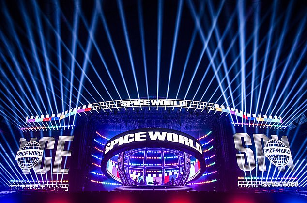Can't wait:Taking to Instagram to gush about the upcoming shows, Geri wrote: 'Spice World production rehearsals done! Roll on Friday #SpiceWorld2019'