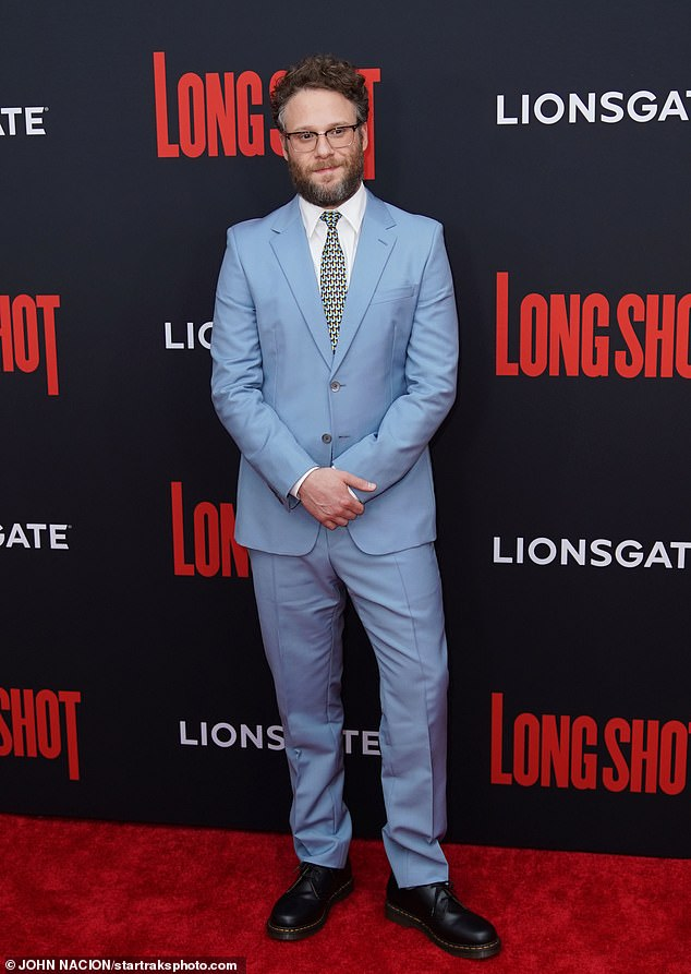 """Rogen recalled: 'I actually remember doing a radio interview, being like, """"Yeah, go see it, it's great,"""" and being like, Ugh. Never again do I want to have to tell people to go see a movie that I myself actually wouldn't see' (pictured April 30)"""
