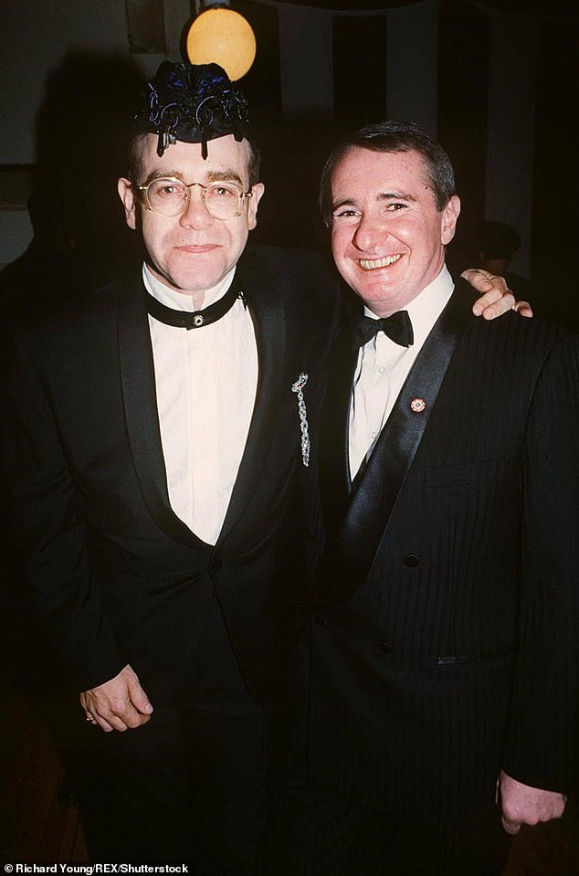 Premiere:Rocketman, which is produced by Elton and David, had its world premiere at the Cannes Film Festival on May 16 (Pictured, John and Elton in 1991)
