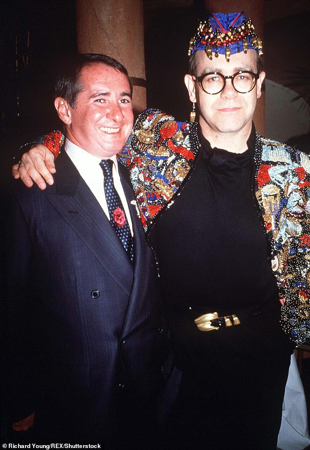 Important:Elton said he is 'so glad' the scene made it to the film, even though he knows not everyone will 'understand' the 'very important' moment (Pictured in 1990)