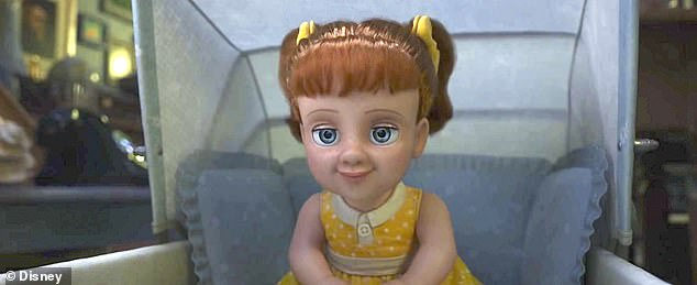 Creepy! Missing from the teaser was the villain of Toy Story 4, a 1950s pullstring doll called Gabby Gabby (Christina Hendricks)