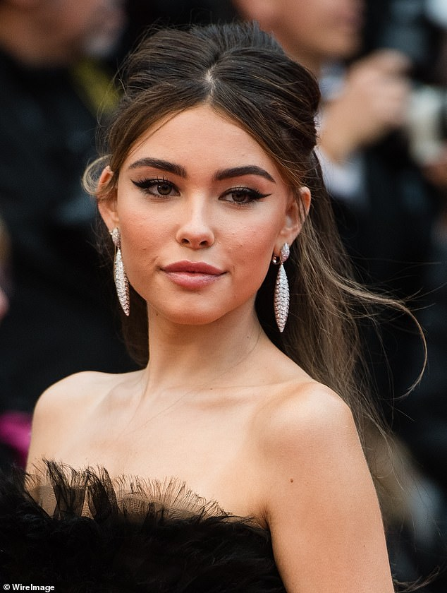 Radiant:Madison went ultra glam for the night out in France, wearing pink blush on her cheeks and a dramatic winged eyeliner