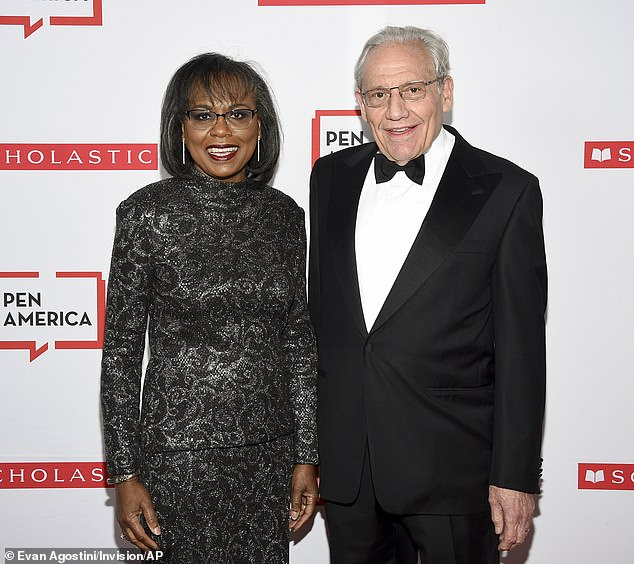 Dapper: Veteran Washington Post journalist Bob Woodward, 76, wore a tuxedo