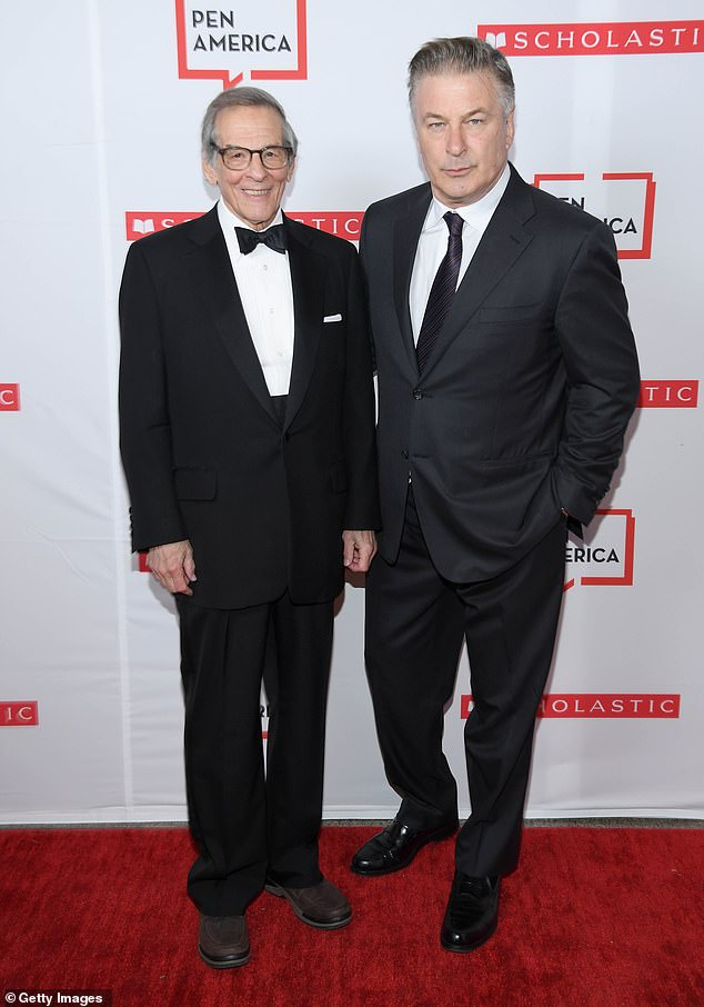 Alec posed on the red carpet with veteran journalist and political biographer Robert Caro, 83