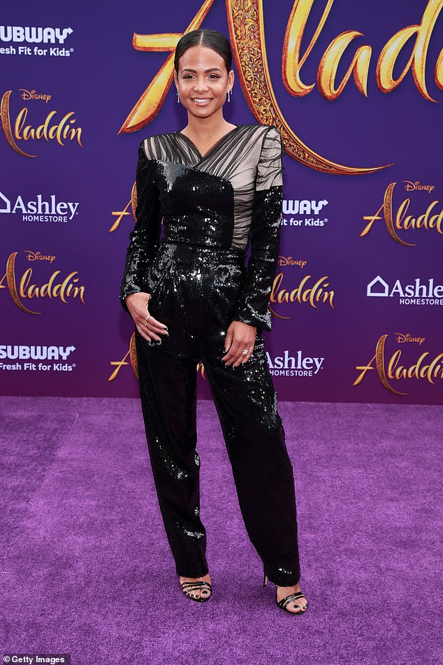 Stunner:Christina Milian, 37, showed off her svelte physique at the Aladdin premiere in Los Angeles on Tuesday
