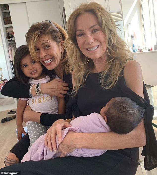 Gang's all here! Her former Today show co-host Kathie Lee Gifford visited her and newborn baby Hope last week, and Hoda shared a sweet snap on Instagram