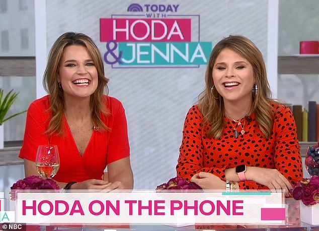 Checking in: After Mother's Day, Hoda called into the fourth hour of the Today show to inform Savannah Guthrie and Jenna Bush Hager about her maternity leave