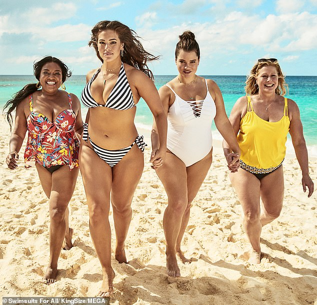 Life's a beach! Ashley more recently joined actress Sherri Shepherd, Sports Illustrated rookie Tara Lynn, plus-size model Emme in Swimsuits For All's co-ed 'Every.Body.Counts.' campaign